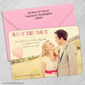 Frolic 5 Save The Date With Optional Color Envelope1