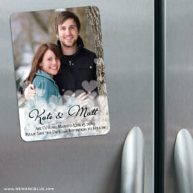 Glistening Hearts 3 Refrigerator Save The Date Magnets
