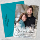 Glistening Hearts 5 Save The Date With Optional Color Envelope1