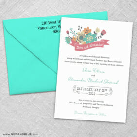 Ashland 3 Invitation And Color Envelope