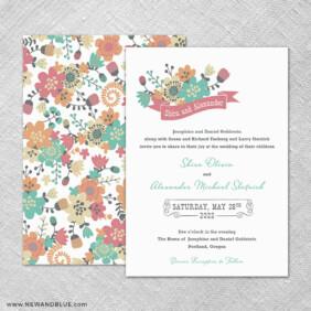 Ashland 4 Invitation Shown With Back Printing