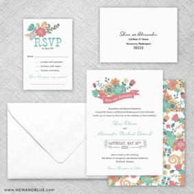 Ashland 5 Wedding Invitation And Rsvp Card