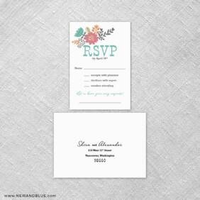 Ashland 6 Reception Card And Rsvp Card