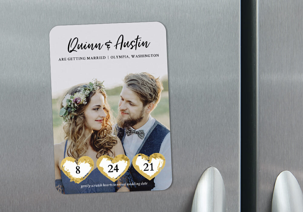 Scratch It Refrigerator Save The Date Magnets