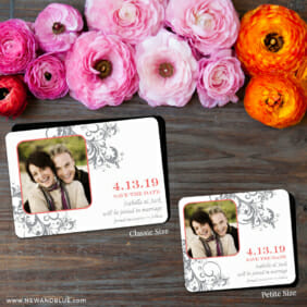 Flourish 2 Save The Date Magnet Classic And Petite Size