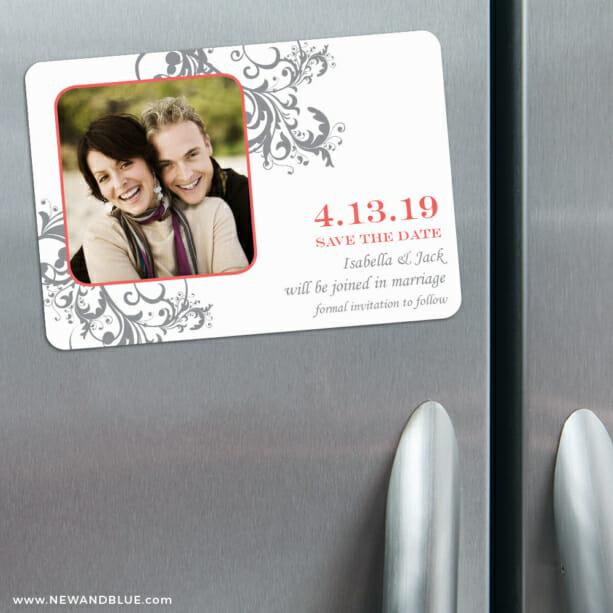Flourish 3 Refrigerator Save The Date Magnets