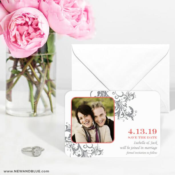 Flourish 6 Wedding Save The Date Magnets