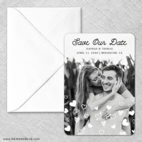 Head Over Heels Classic Save The Date Magnet