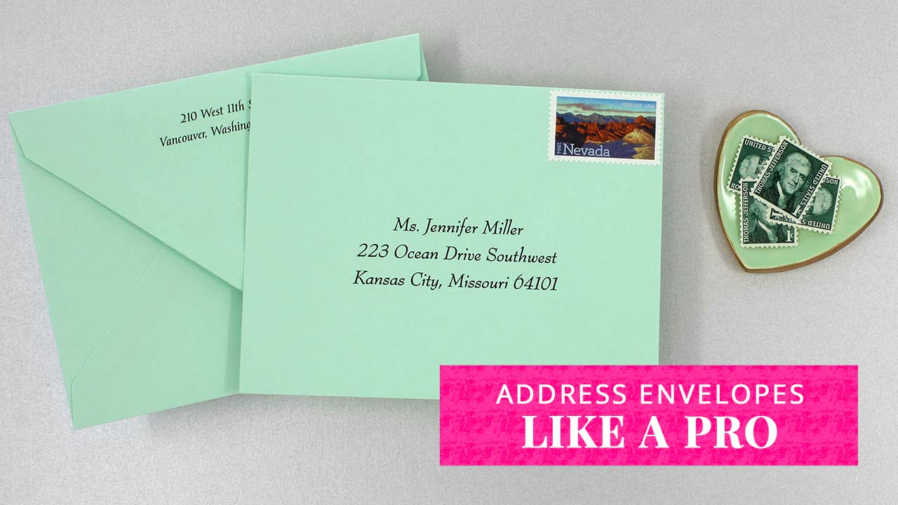 Address your Envelopes Like a Pro