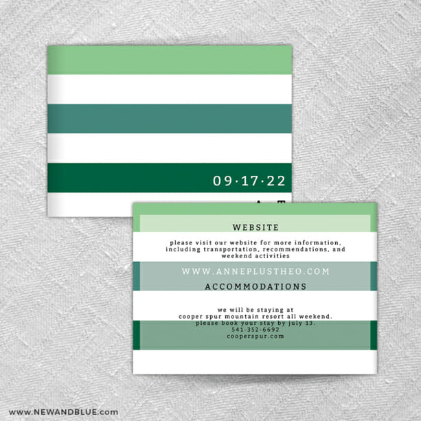 Happy Stripe All In One Invitation Front And Back Panel
