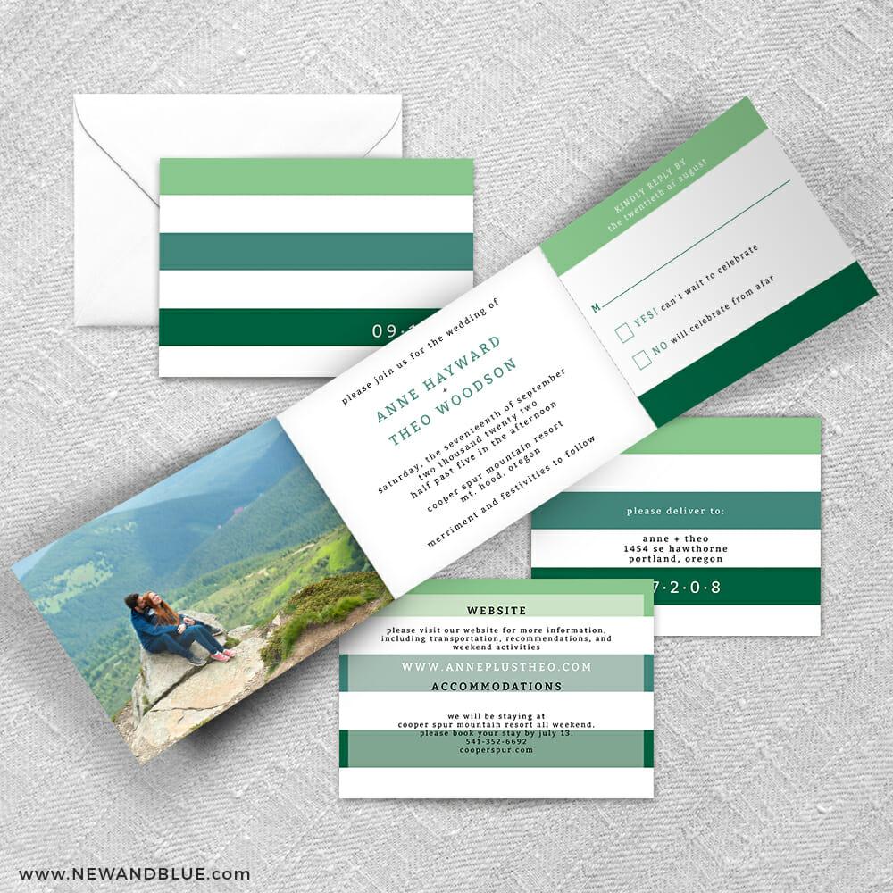 Happy Stripe All Inclusive Invitation Suite