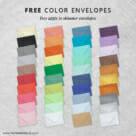Happy Stripe Invitation Includes Free Color Envelope