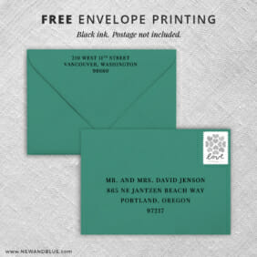 Happy Stripe Return Address Printing And Recipient Address Printing Included With All Inclusive Invitations