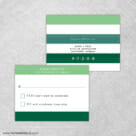Happy Stripe Rsvp Postcard Has Perforated Edge For Easy Removal Postage Not Included