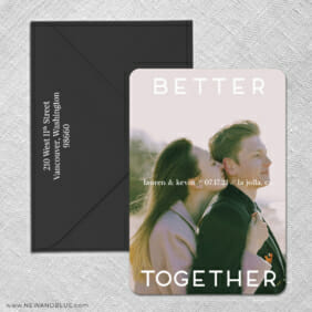 Better Together 3 Save The Date With Optional Color Envelope1