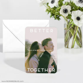 Better Together 6 Wedding Save The Date Magnets With Envelope1