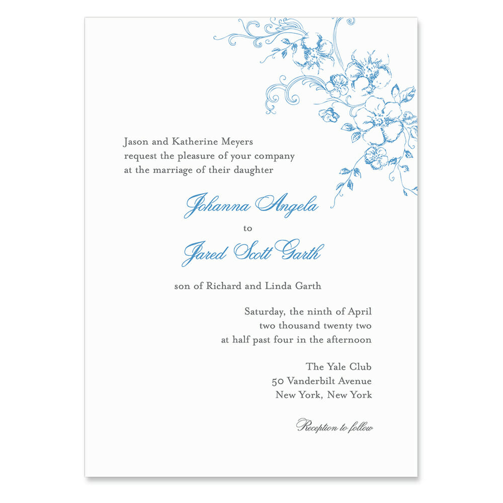 Abbey Road Invitation Shown In Color Teal