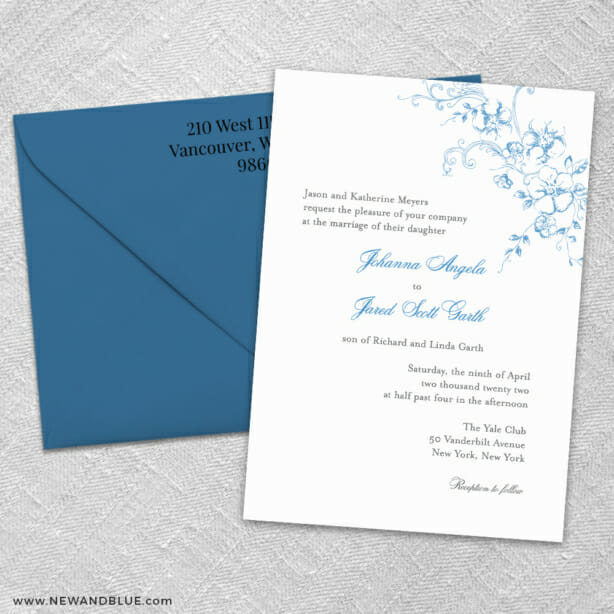 Abbey Road Ze Wedding Invitation Shown With Color Envelope