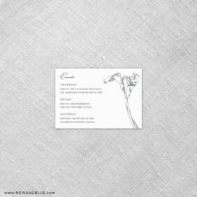 Allure Calla Lily 7 Reception Card