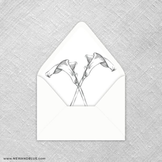 Allure Calla Lily 9 Envelope Liner