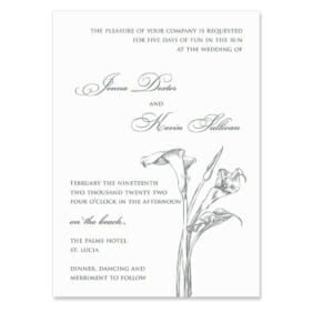 Allure Calla Lily Wedding Invitation