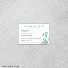 Aloha 7 Reception Card