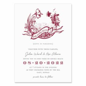 Aloha Wedding Invitation