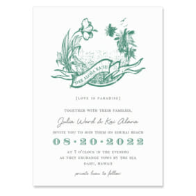 Aloha Wedding Invitation