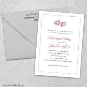 Amour 3 Invitation And Color Envelope