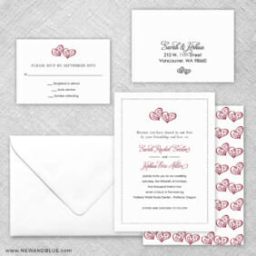 Amour 5 Wedding Invitation And Rsvp Card