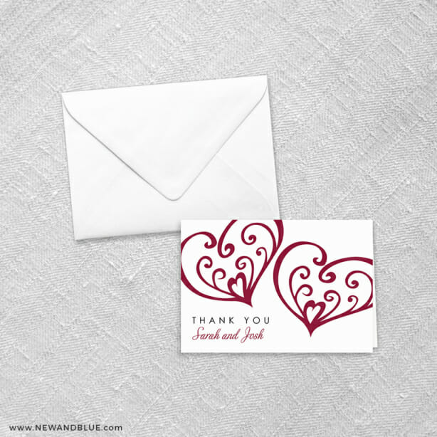 Amour 8 Thank You Card