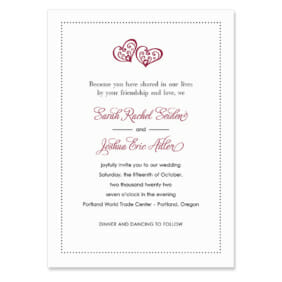 Amour Invitation Shown In Color Red