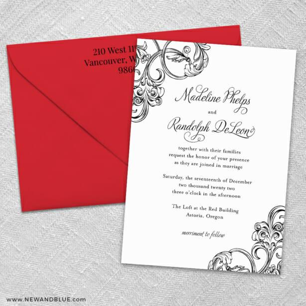 Amsterdam 3 Invitation And Color Envelope