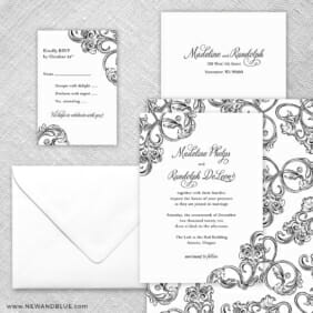 Amsterdam 5 Wedding Invitation And Rsvp Card