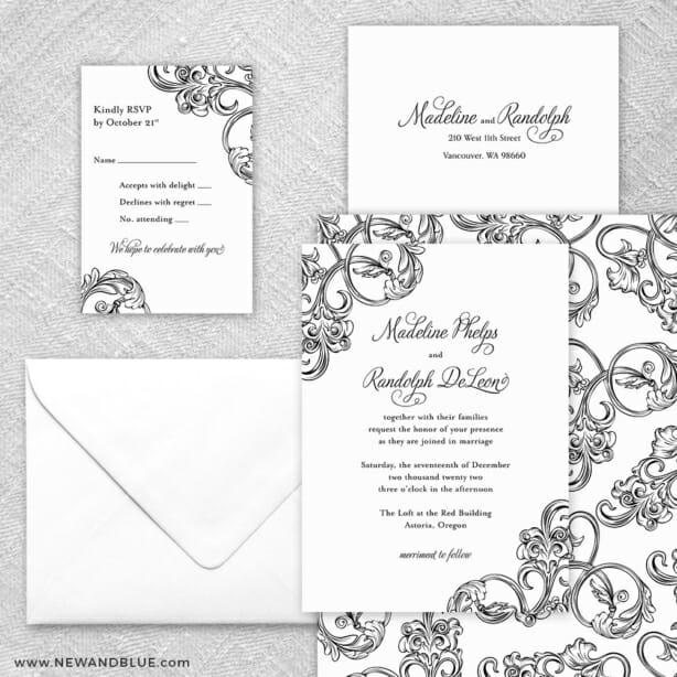 Amsterdam 5 Wedding Invitation And Rsvp Card