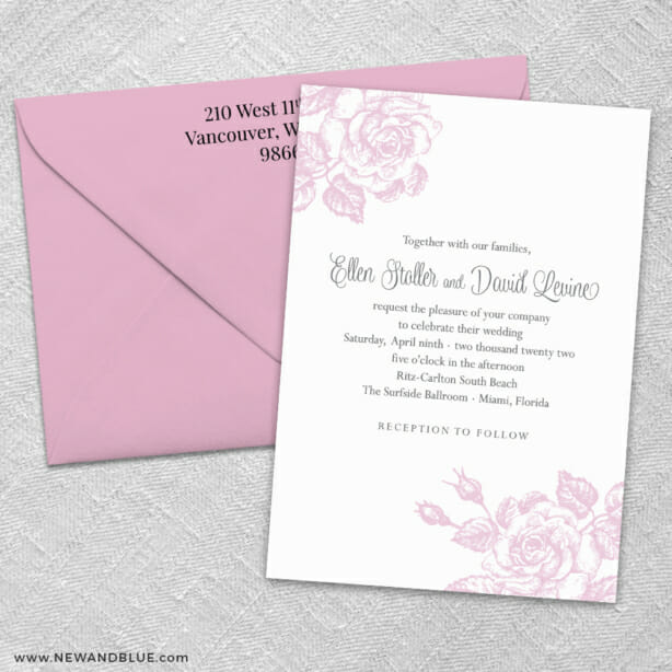 Arbor 3 Invitation And Color Envelope