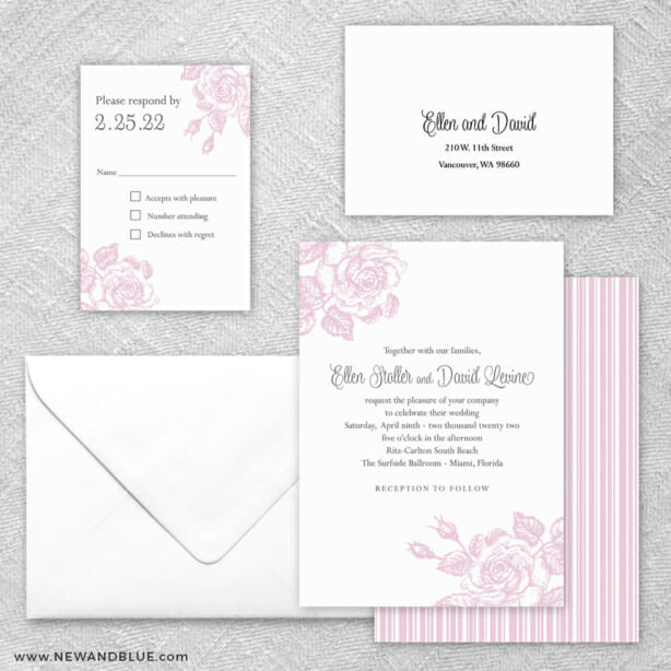 Arbor 5 Wedding Invitation And Rsvp Card