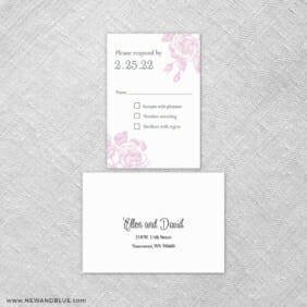 Arbor 6 Reception Card And Rsvp Card