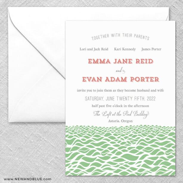 Astoria 2 Invitation And Envelope
