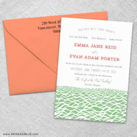 Astoria 3 Invitation And Color Envelope