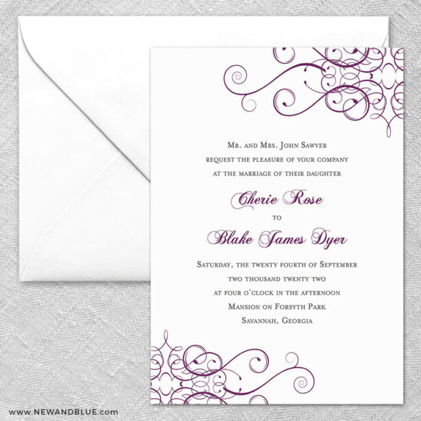 Ballroom 2 Invitation And Envelope