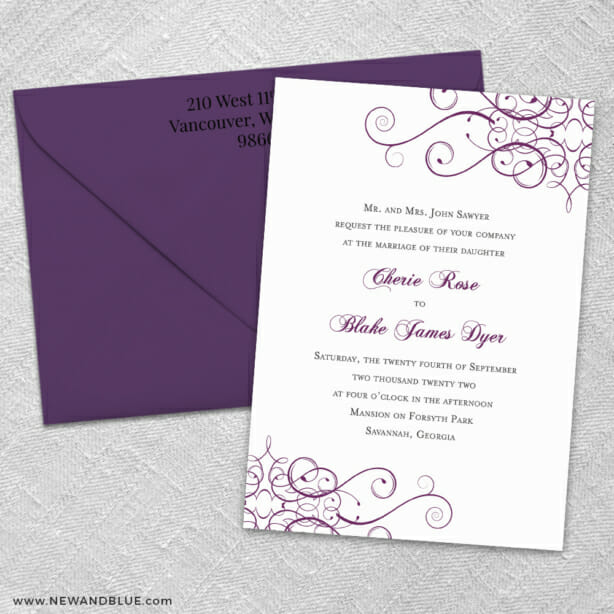 Ballroom 3 Invitation And Color Envelope