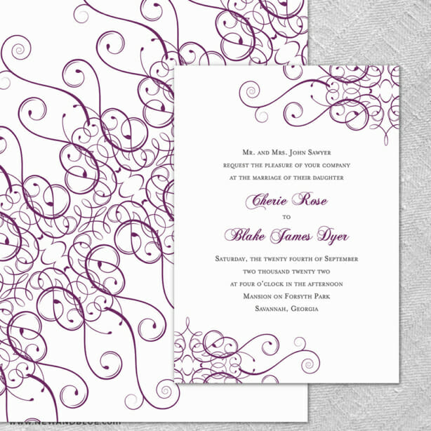 Ballroom 4 Invitation Shown With Back Printing