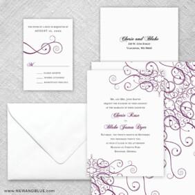 Ballroom 5 Wedding Invitation And Rsvp Card