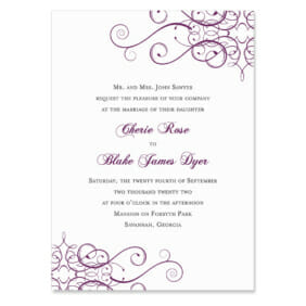 Ballroom Wedding Invitation