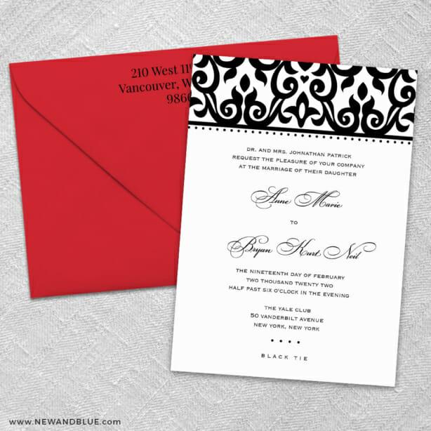 Barcelona 3 Invitation And Color Envelope