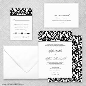 Barcelona 5 Wedding Invitation And Rsvp Card