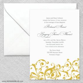Bellini 2 Invitation And Envelope