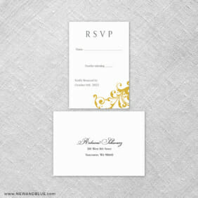 Bellini 6 Reception Card And Rsvp Card