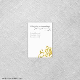 Bellini 7 Reception Card